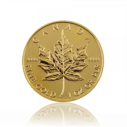 10x 1oz Maple Leaf Gold Coin